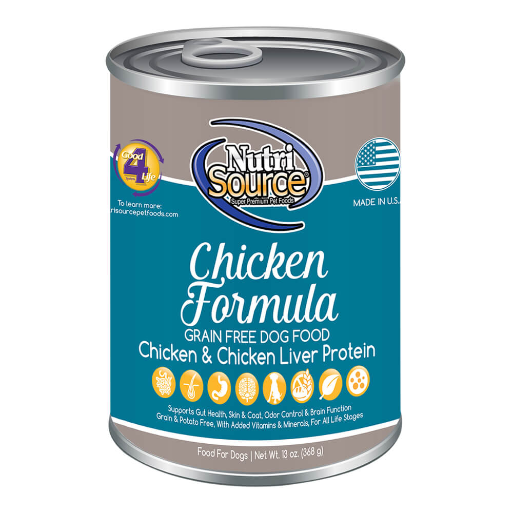 Nutrisource Dog Grain Free Chicken Cans 13 Oz Super Pel 13oz