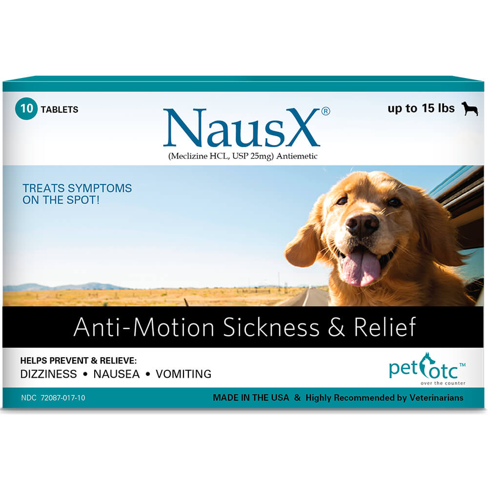 Nausx Anti-Motion Sickness & Relief For Dogs, Sm