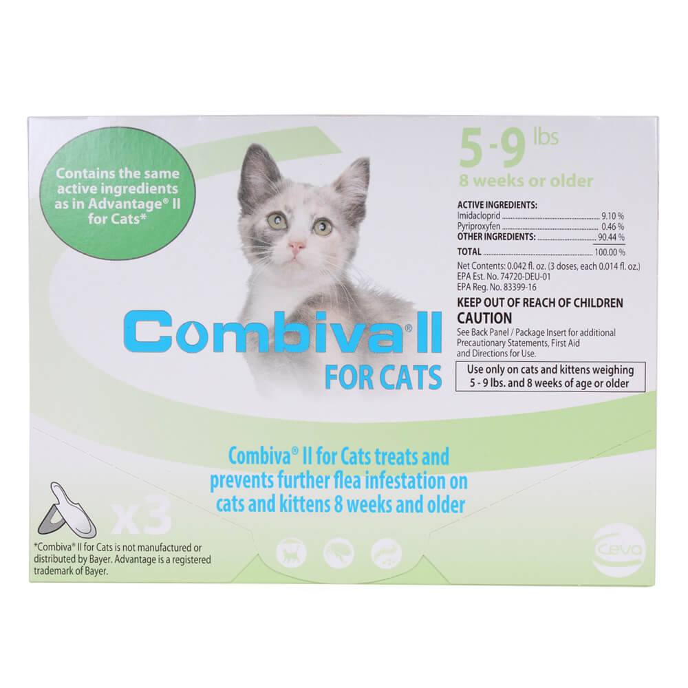 Combiva II for Cats, 5-9 lbs, 3 ct