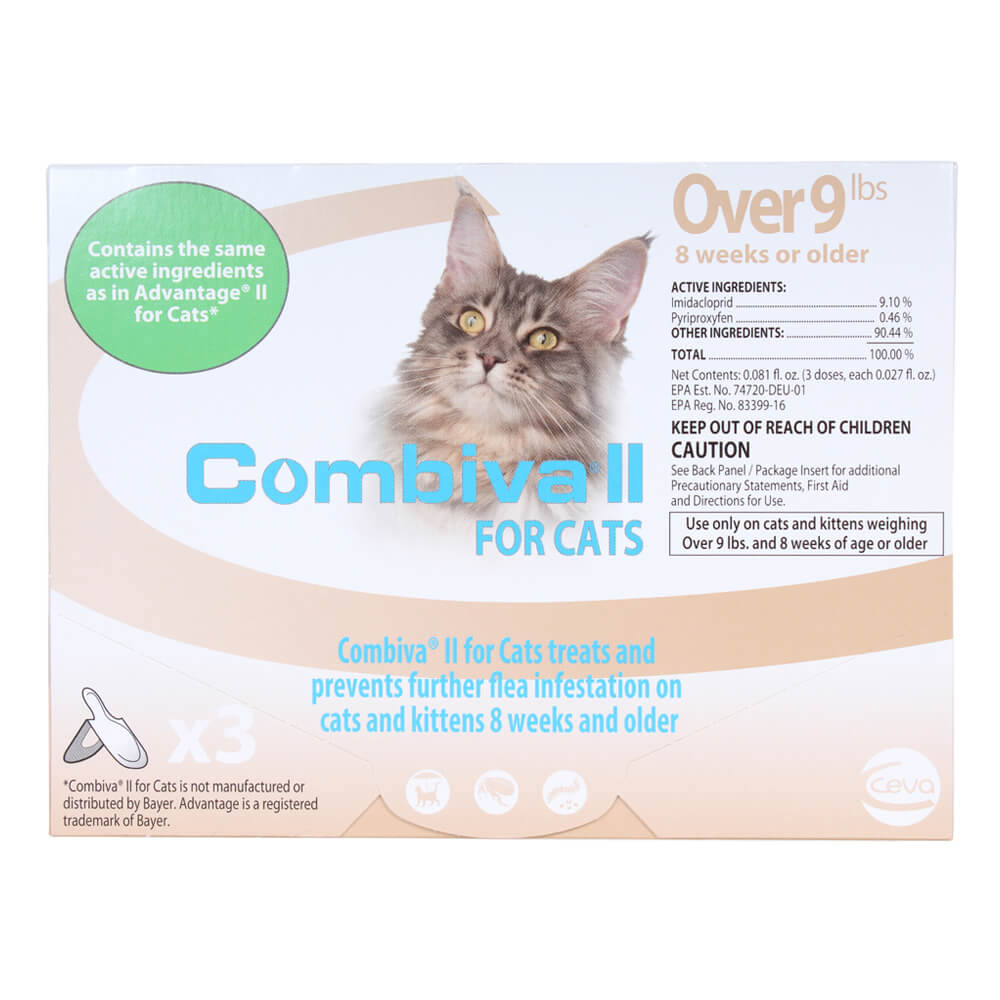 Combiva II for Cats, Over 9 lbs, 3 ct