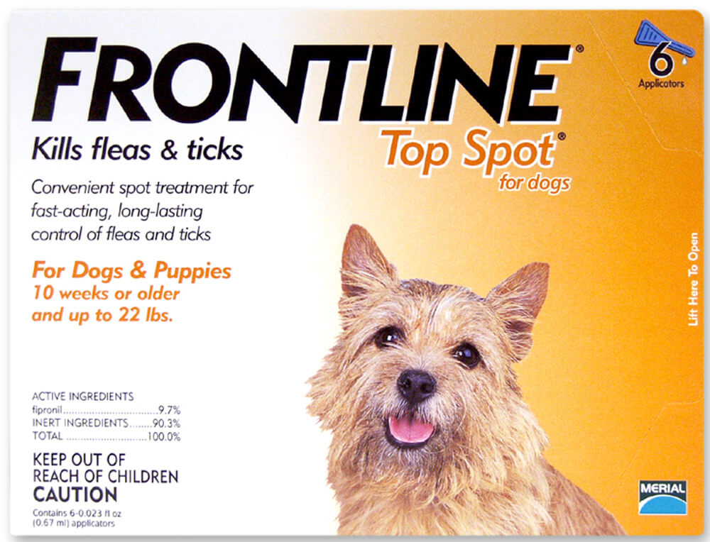Frontline Top Spot for Dogs, 0-22 lbs, 6 Month