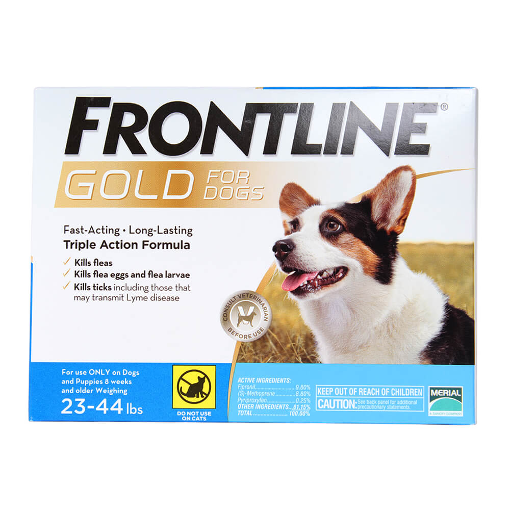 Frontline Gold for Dogs, 23-44, Single