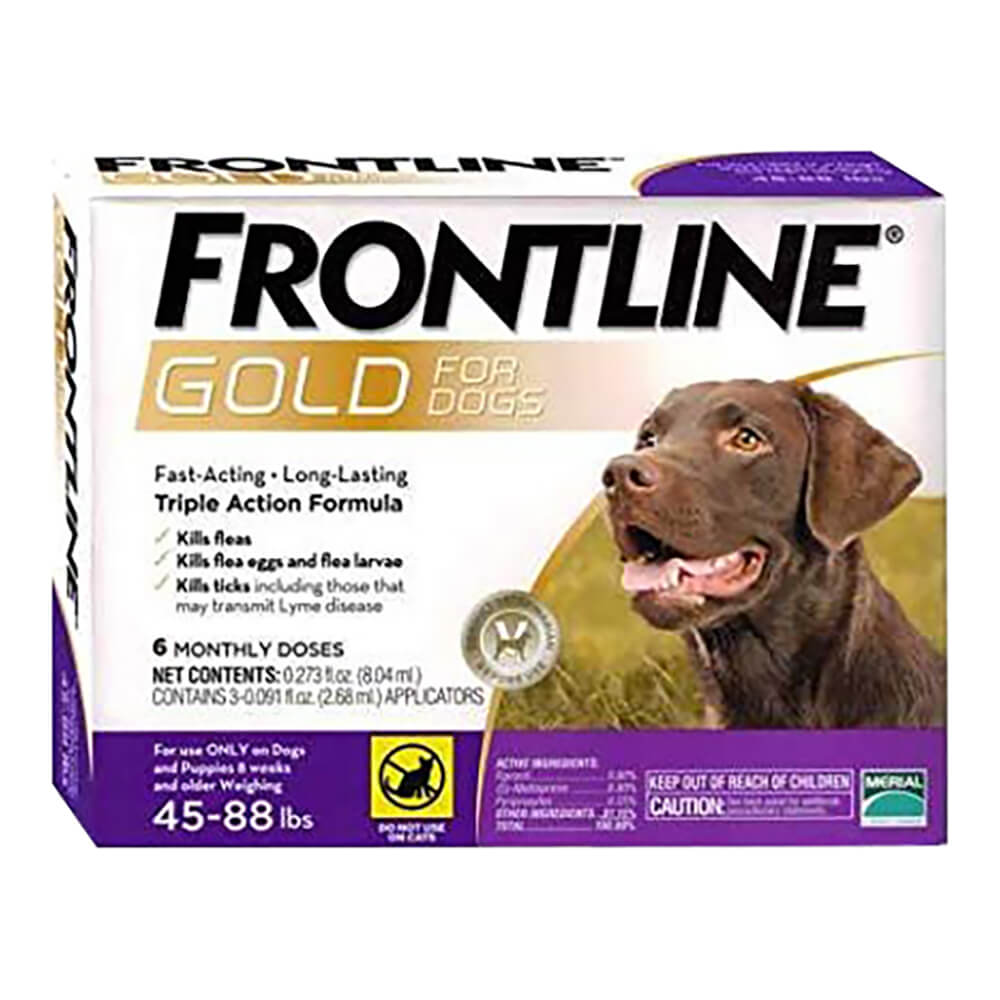 Frontline Gold for Dogs 45-88 lbs, Purple, 6 Month