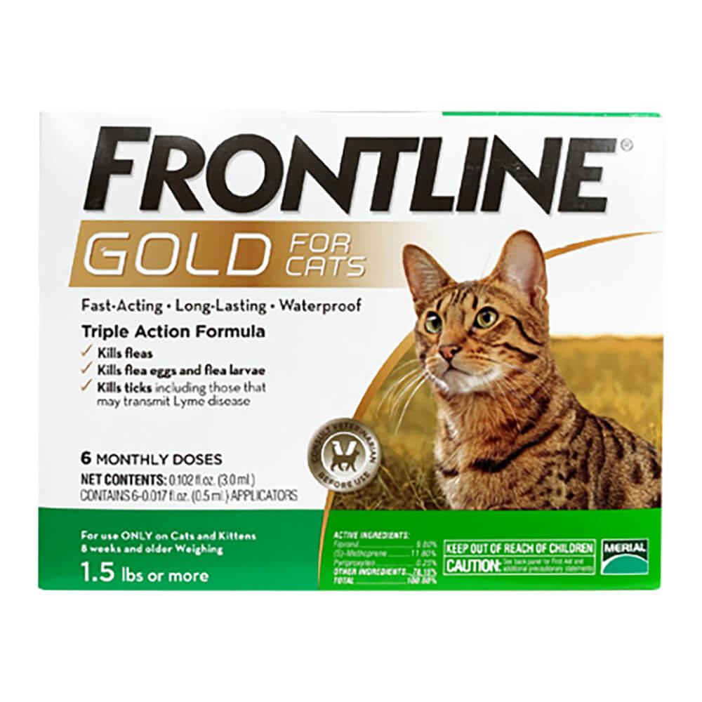 Frontline Gold for Cats 1.5 lbs and Up, Green, 6 Month