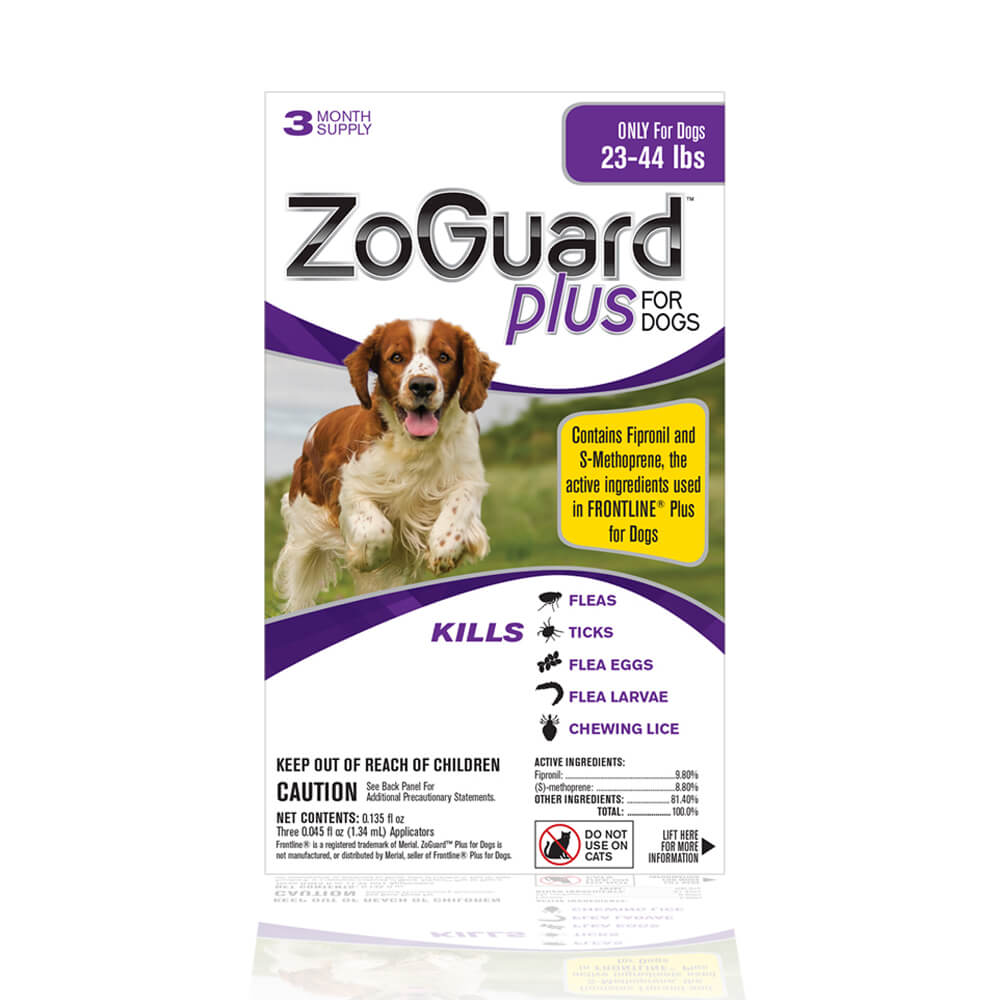ZoGuard Plus for Dogs, 23-44 lbs, 3 Month