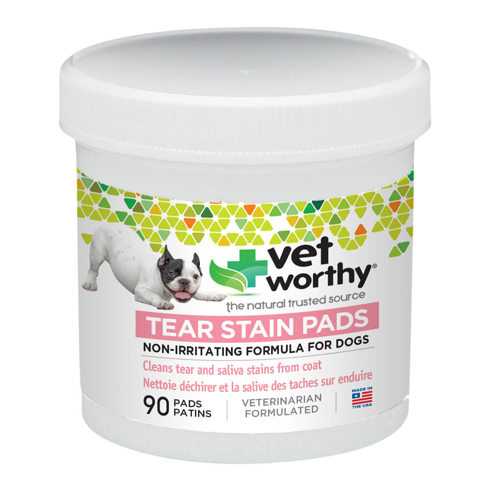 Vet Worthy, Tear Stain Pads, for Dogs, 90 ct