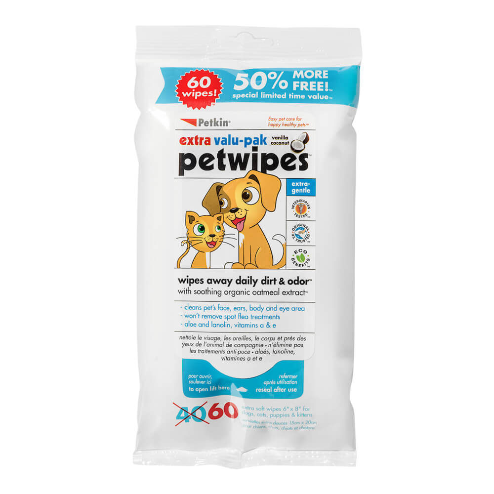 Pet Wipes Valu-Pak 60 Count
