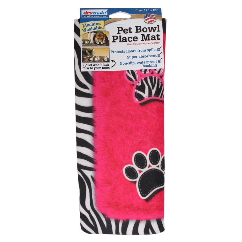 Drymate Pet Place Mat Zebra Pink 12x20 Quot