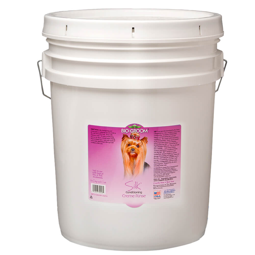 Bio-Groom Silk Conditioning Crème Rinse for Dogs and Cats, 5 Gallon