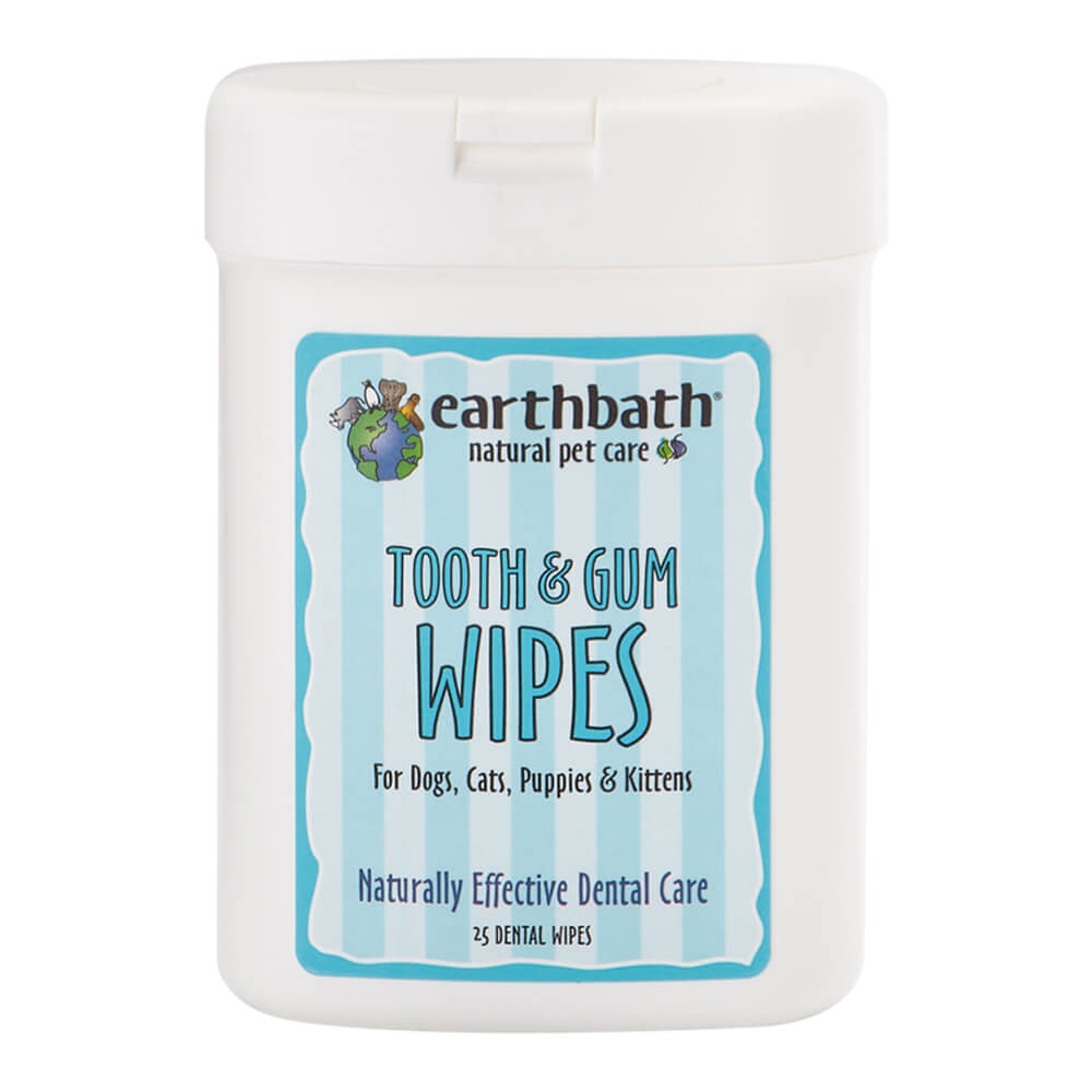 Tooth & Gum Wipes for Dogs, Cats, Puppies & Kittens 25 ct