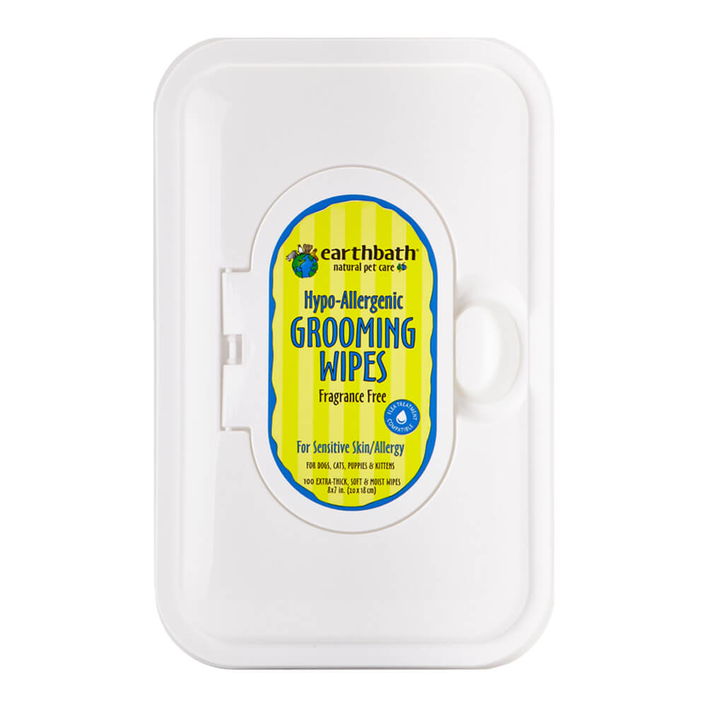 Grooming Wipes Hypo-Allergenic, Fragrance Free 100 ct