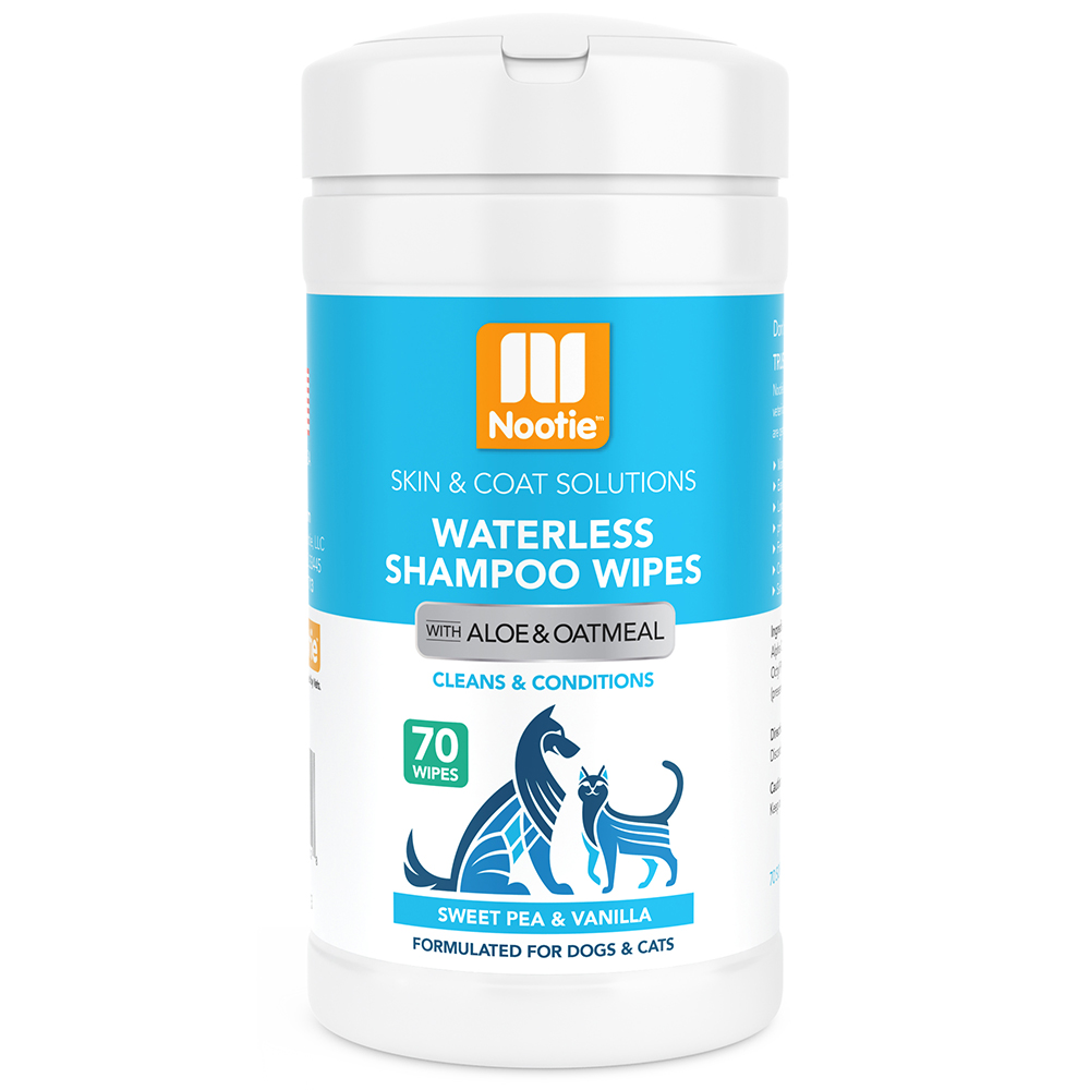 Waterless Shampoo Wipes, Sweet Pea & Vanilla, 70 Count