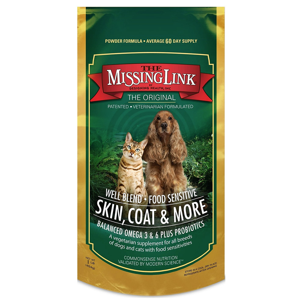 The Missing Link Well Blend Food Sensitive Skin, Coat & More Supplement for Dogs & Cats