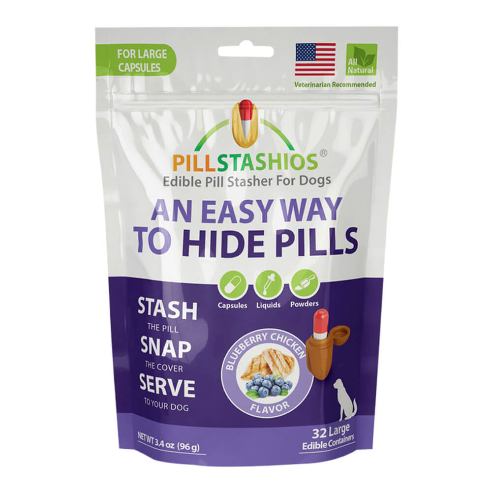 PillStashios Blueberry Chicken, Large, 32 Ct.