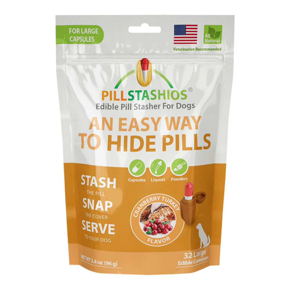 PillStashios Cranberry Turkey, Large, 32 Ct.