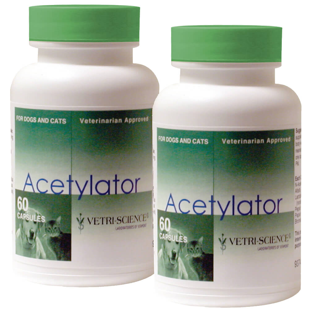 Acetylator 120ct for Dogs and Cats, 2pk