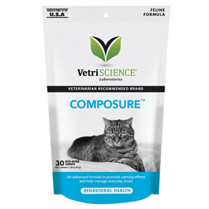 Composure Calming Support Formula for Cats, 30 Bite Sized Soft Chews