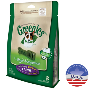 Greenies Weight Management Treats for Dogs 50-100 lbs, Large, 12 oz
