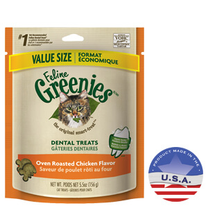 Feline Greenies Dental Treat Oven Roasted Roasted Chicken 5.5oz