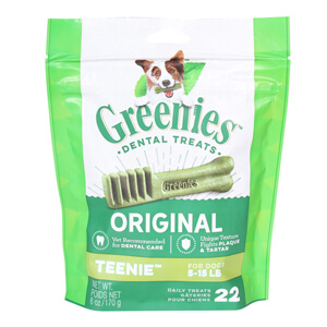 Greenies Dental Chews Value Box Teenie Treats for Dogs 5-15 lbs,  36 oz
