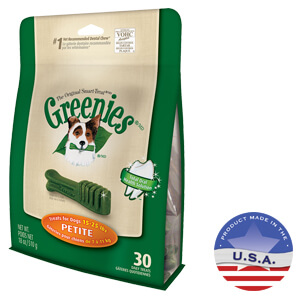 Greenies Canine Dental Chews, Mega Treat-Pak, Petite, 30 Bones