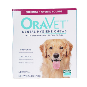 ORAVET Dental Chews for dogs Over 50 lbs, 14 ct