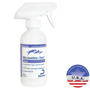 Miconahex+ Triz Spray for Dogs, Cats, and Horses, 8 fl oz