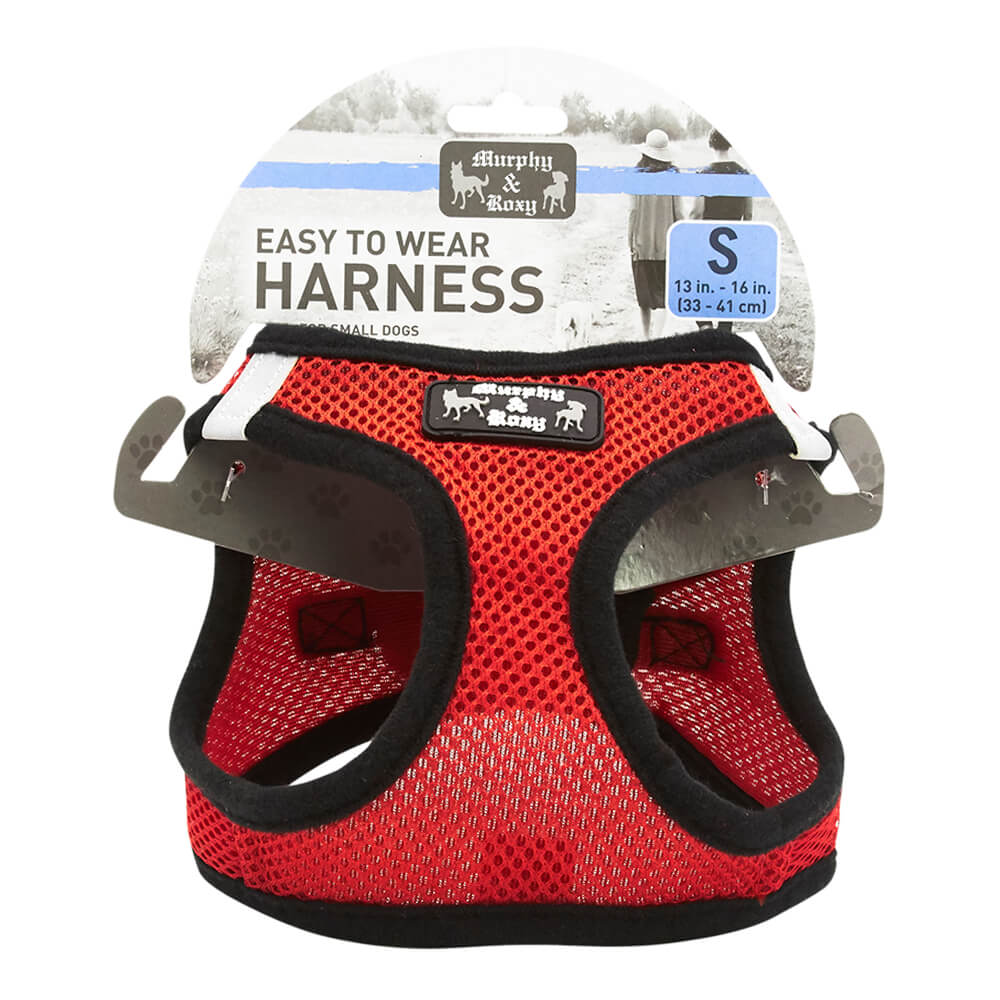 Dog Harness, Red, Small, 13-16