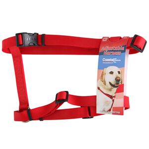 Coastal Adjustable Harness for Large Dogs, Red, 22