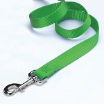 Nylon Lead, Single Thick w/ Swivel Snap & Loop, Lime Green, 6' x 5/8""