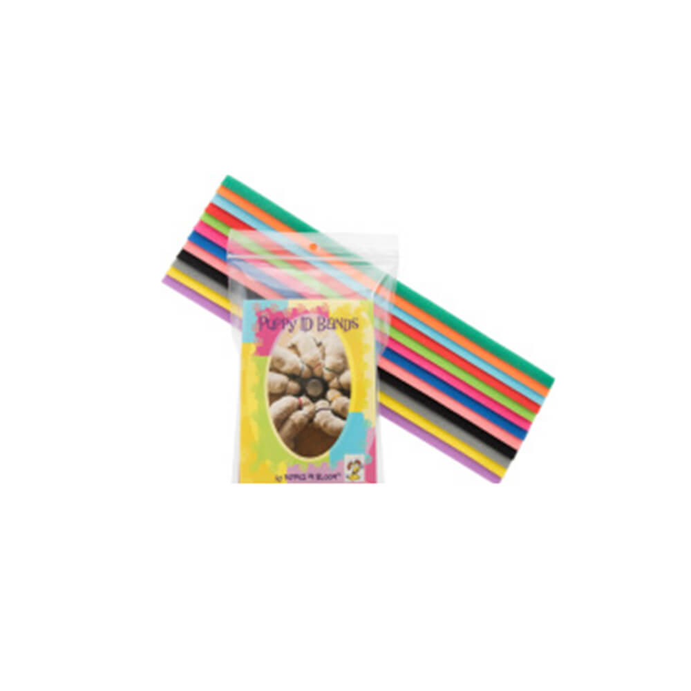 Puppy ID Bands, 14 Inch Size, Pack of 12