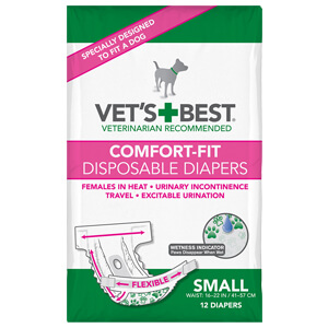 Comfort-Fit Disposable Female Diapers, Small
