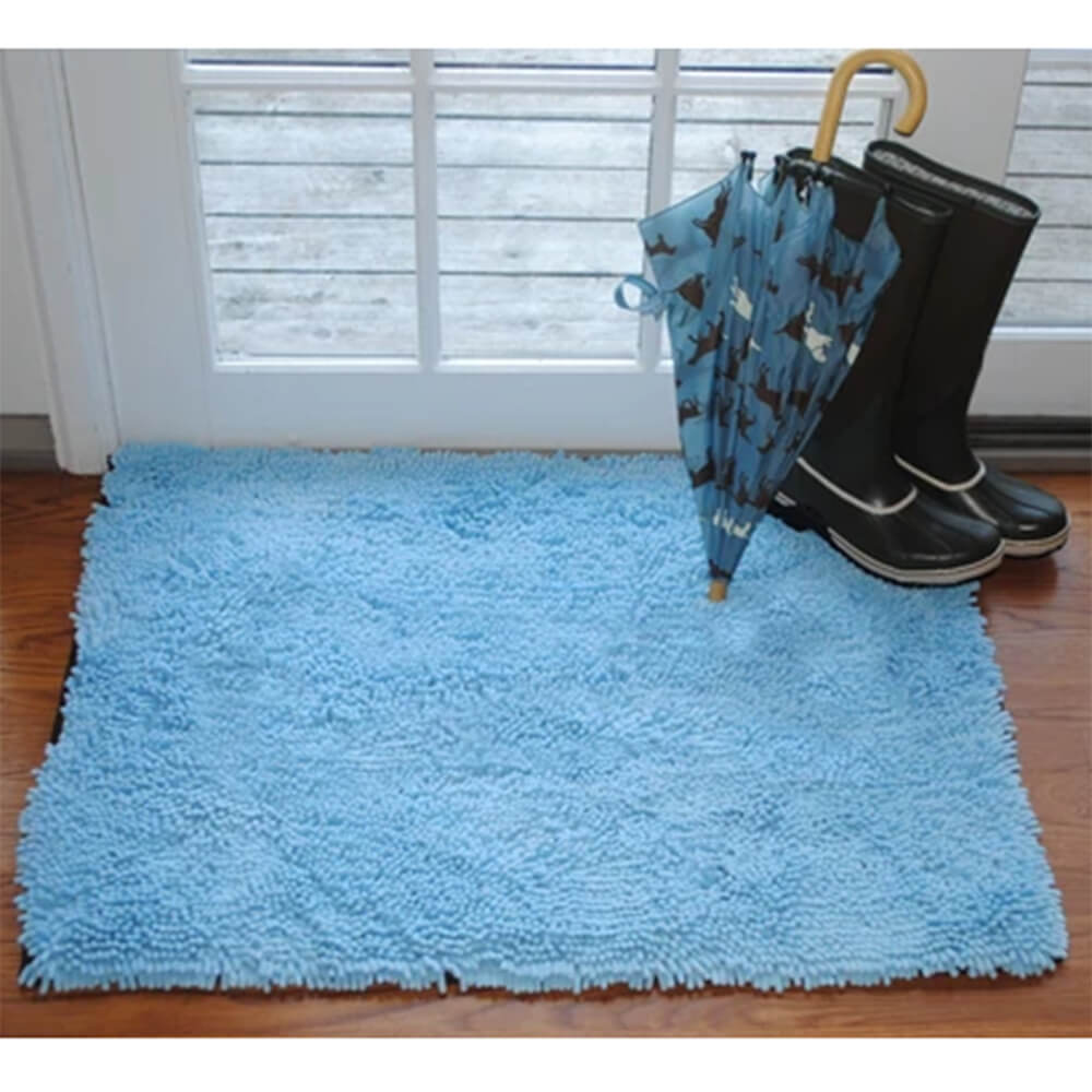 Soggy Doggy Doormat, Large Doormat Light Blue No Bone