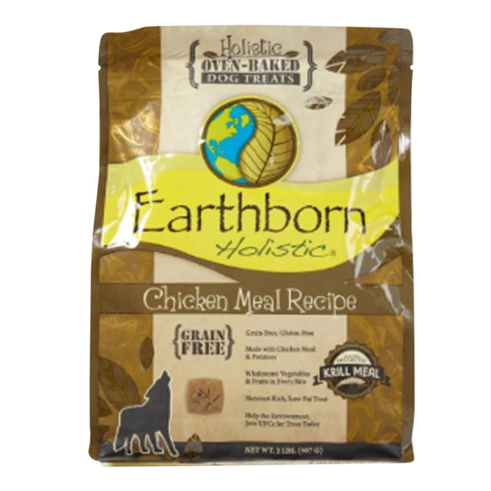 Earthborn Holistic Oven-Baked Dog Treats, Grain Free, Chicken, 2 lbs