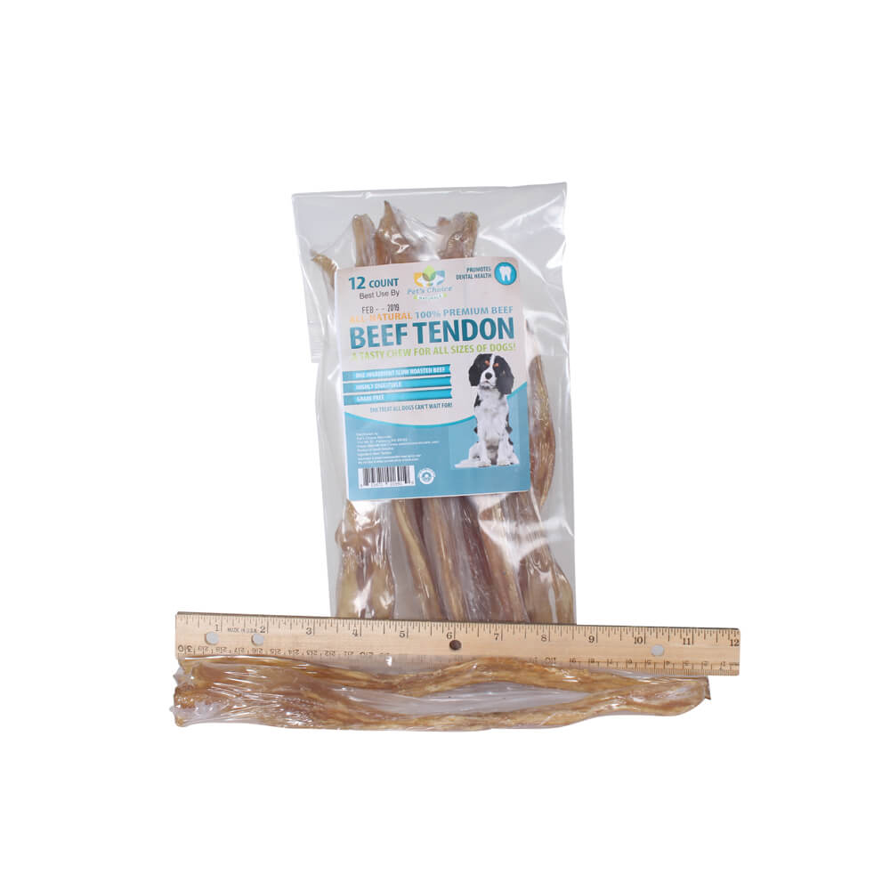 "Beef Tendon 7.5""-11"" long, 12 pack"
