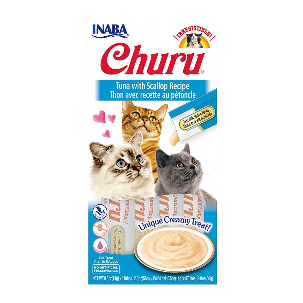 Inaba Churu, Creamy Tuna & Scallop Cat Treat