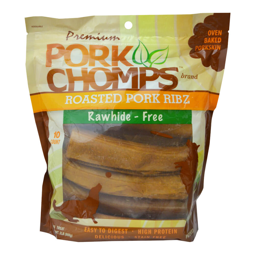 Premium Pork Chomps, Pork Ribz, 10ct Bag