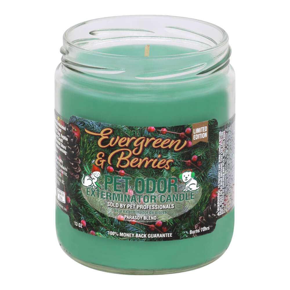 Pet Odor Exterminator Candle, Evergreen & Berries, 13oz
