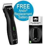 Andis Pulse ZR II Clipper, Detachable Blade w/Free Replacement Battery