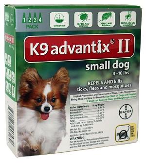 K9 Advantix Ii Small Dog 4 10 Lbs 4 Pack Green