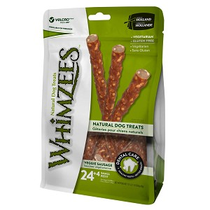 Whimzees Veggie Sausage, Small Value Bag, 24+4