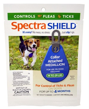 Spectra Shield Collar Attached Medallion for Dogs