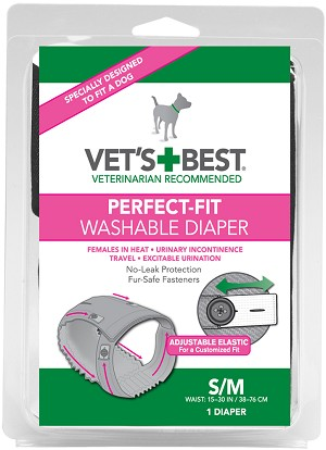 Perfect-Fit Washable Female Diaper, Small/Medium
